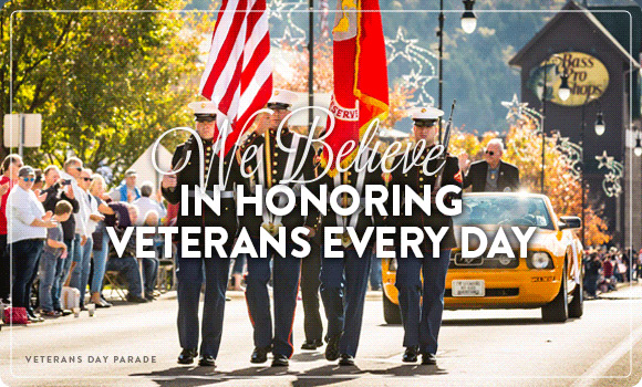 We Believe in Honoring Veterans Every Day