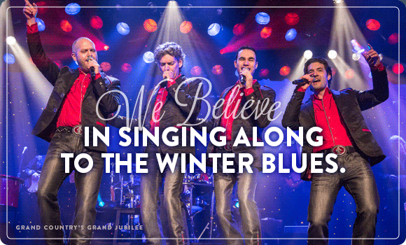 We Believe in Singing Along to the Winter Blues