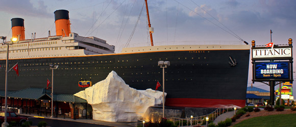 Outside is the Tip of the Iceberg at the Branson Titanic